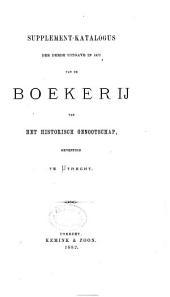 Katalogus der boekerij van het Historisch Genootschap gevestigd te Utrecht: Volume 2
