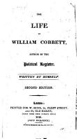 The life of William Cobbett  Written by himself PDF