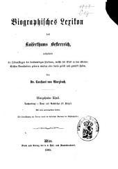 Biographisches Lexicon des Kaiserthums Österreich, enthaltend die Lebensskizzen der denkwürdigen Personen, welche 1750 bis 1850 im Kaiserstaate und in seinen Kronländern ... gelebt haben: Band 20