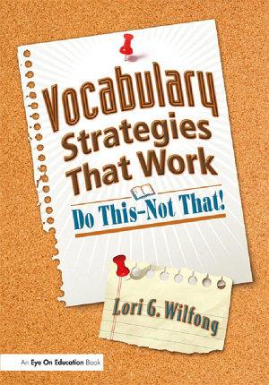 Vocabulary Strategies That Work PDF