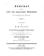 Journal für die reine und angewandte Mathematik: Band 36