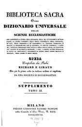 Biblioteca sacra ovvero Dizionario universale delle scienze ecclesiastiche... per la prima volta ... tradotta ed ampliata da una societa di ecclesiastici: Volume 24