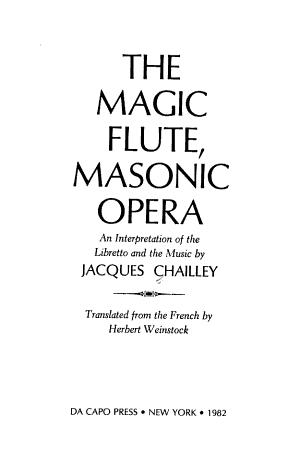 The Magic Flute  Masonic Opera PDF
