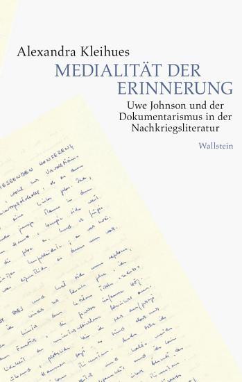 Medialit  t der Erinnerung PDF