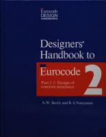 Designers  Handbook to Eurocode 2  1  Design of concrete structures PDF