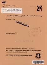 Annotated Bibliography for Scientific Ballooning
