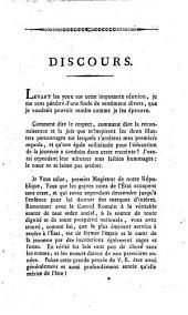 Discours prononcés par le préfet de l'école française de la ville de Fribourg, à la distribution des prix, le 3 septembre 1817, dans l'église des RR. PP. Cordeliers