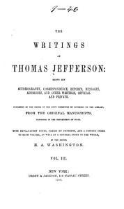 The Writings of Thomas Jefferson  Correspondence