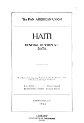 Haiti: General Descriptive Data