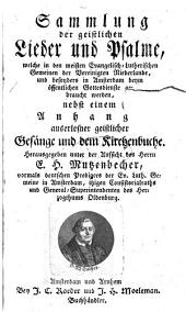 Sammlung der Lieder und Psalme, in den Evang.-Lutherischen Gemeinen gebraucht, nebst Anh: Band 1