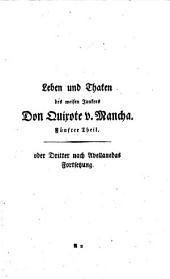 Leben und Thaten des weisen Junkers Don Quixote von Mancha,5-6