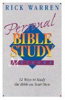 Personal Bible Study Methods PDF