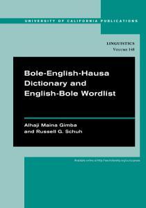 Bole English Hausa Dictionary and English Bole Wordlist Book