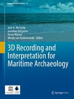 3D Recording and Interpretation for Maritime Archaeology PDF