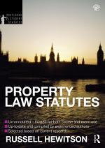 Property Law Statutes 2012-2013