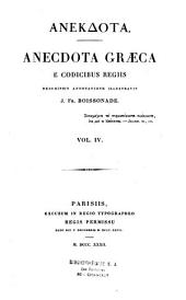 Anecdota graeca e codicibus regiis