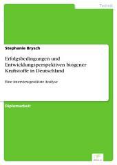 Erfolgsbedingungen und Entwicklungsperspektiven biogener Kraftstoffe in Deutschland: Eine interviewgestützte Analyse