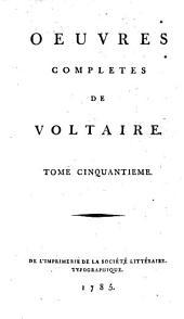 Oeuvres complètes: Dictionnaire Philosophique ; 4, Volume50