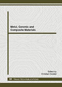 Metal  Ceramic and Composite Materials