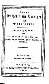 Neues Magazin für Prediger und Seelsorger: Band 1