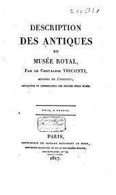 Description des antiques du Musée Royal