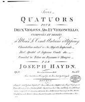 Trois quatuors pour deux violons, alto, et violoncello: op. 72