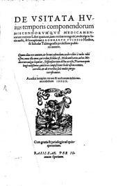 De usitate huius temporis componendorum miscendorumque medicamentorum ratione