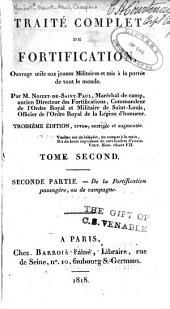 Traité complet de fortification: ptie. De la fortification passagère, ou de campagne