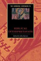 The Cambridge Companion to Biblical Interpretation PDF