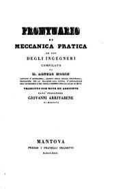 Prontuario di meccanica pratica ... trad. con note ed aggiunte da Giovanni Arrivabene