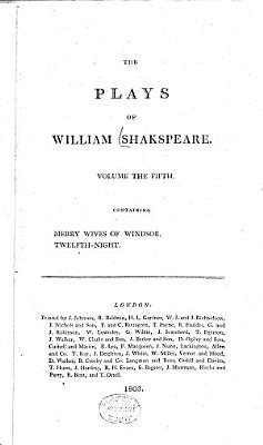 Characters Of Shakspeare S Sic Plays