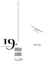 Nineteenth-century Studies