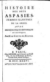 Histoire des deux Aspasies, femmes illustres de la Grèce