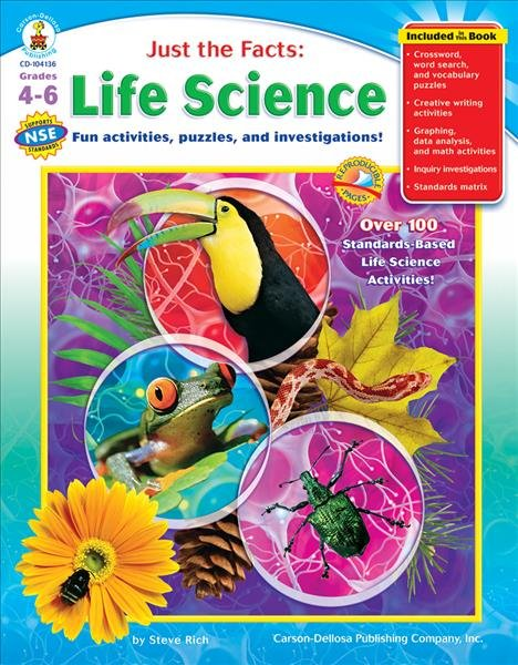 Just The Facts Life Science Grades 4 6