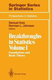 Breakthroughs in Statistics: Foundations and Basic Theory