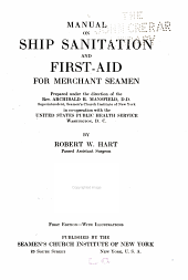 Manual on Ship Sanitation and First-aid for Merchant Seamen