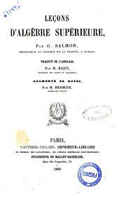 Lecons d'algebre superieure par G. Salmon