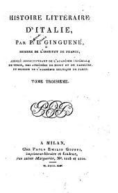 Histoire littéraire d'Italie: Volume3