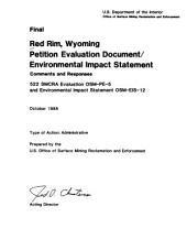 Red Rim, Wyoming petition evaluation document/environmental impact statement, final: Volume 2