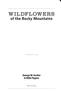 Wildflowers of the Rocky Mountains PDF