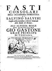 Fasti consolari dell'Accademia Fiorentina