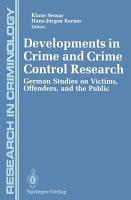 Developments in Crime and Crime Control Research PDF