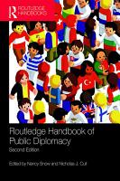 Routledge Handbook of Public Diplomacy PDF