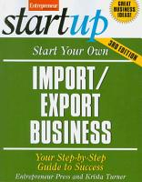 Start Your Own Import Export Business  Third Edition PDF