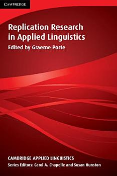 Replication Research in Applied Linguistics PDF