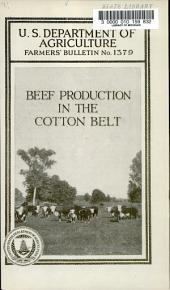Beef Production in the Cotton Belt