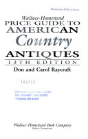 Wallace Homestead Price Guide to American Country Antiques PDF