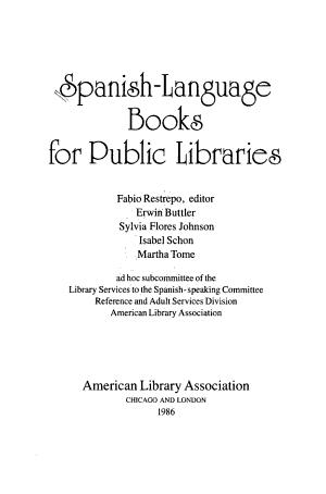 Spanish language Books for Public Libraries