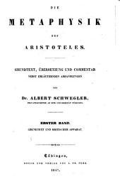 Die metaphysik des Aristoteles: Band 1