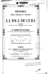 Historia física, política y natural de la isla de Cuba: Historia política. Apéndice a la parte política de la historia de Cuba